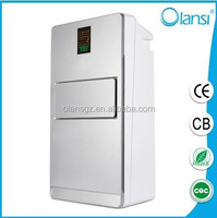 Portable 6 stage purification activated carbon filter/negative ion/ionizer air purifier with humidifier