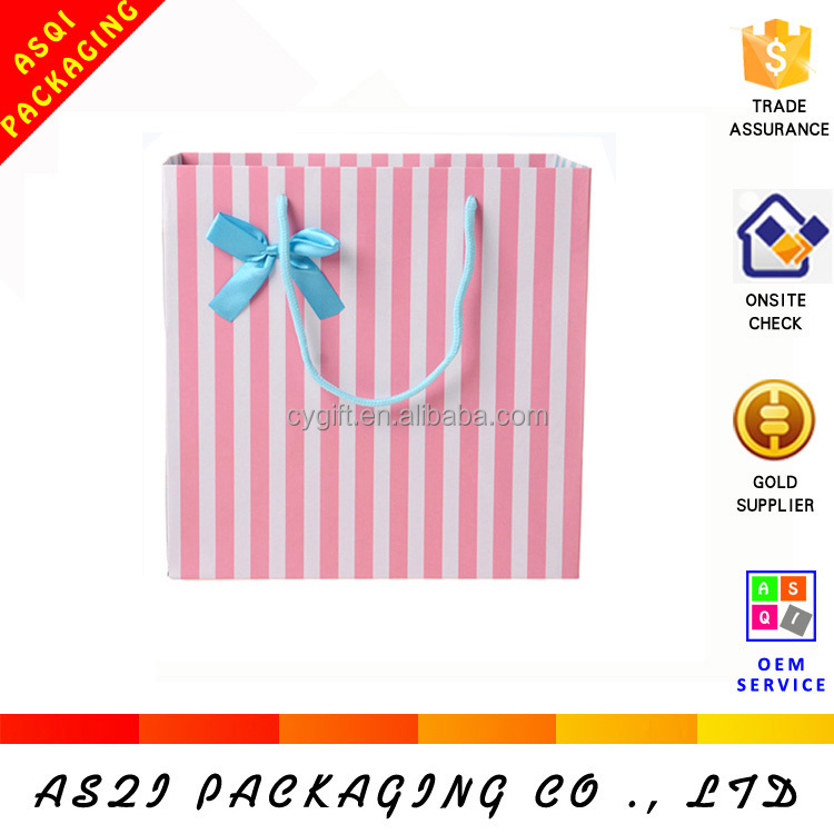 made in china custom colorful stripe party goody bags