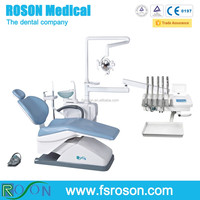China DENTAL CHAIR UNIT with top mounted instrument table