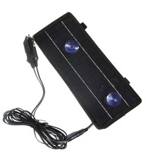 BUHESHUI Wholesale!4.5W 12V Solor Battery Charger For Car Boat Motorcycle Etc Solar Battery Panel With Car Charger