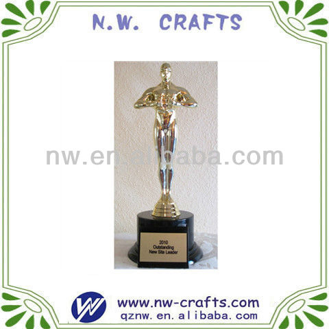 Resin oscar awards trophy
