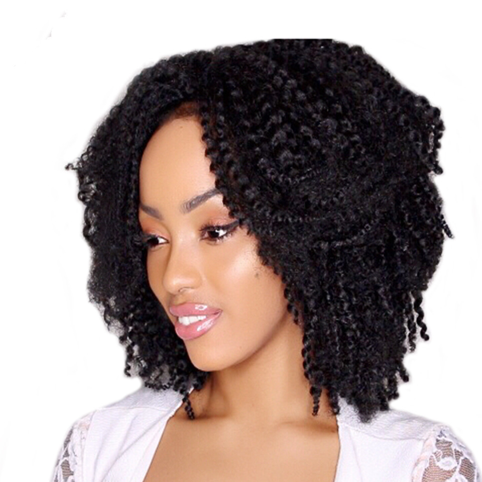Synthetic Jamaican Bounce Marlibob Afro Curly Twist Crochet Braid Hair 8inch Ombre Hair Extensions 3Pieces/Lot