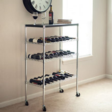 Hot Selling Convenient Metal Wire Bar Service Cart , NSF Approval