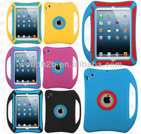 2 in 1 Kids Children Protective Shockproof Silicone Case For iPad Mini / iPad mini 2