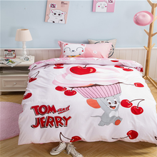 Tom and Jerry sugababes printed 100% microfiber colorful cartoon bed sheet set for kids