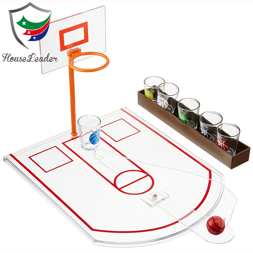 Classic Mini Basketball Bar Pub Table Top Basketball Adult Alcohol Shots Glass Drinking Game