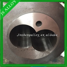 2016 Hot sale extrusion/ Bimetallic l conical twin screw barrel with bimetallic grooves for PVC pipe/sheet/profile