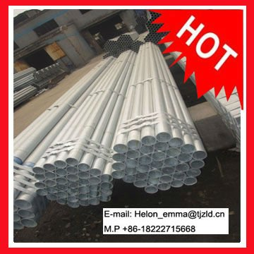 Hot dipped galvanized steel pipe SCH40 CARBON STEEL PIPES with ZINC COATING