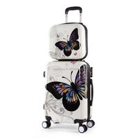 Hot selling pc trolley luggage with retractable wheels