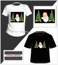 2013 Hot selling merry christmas custom led t shirt/ Promotion led programmable message t-shirt