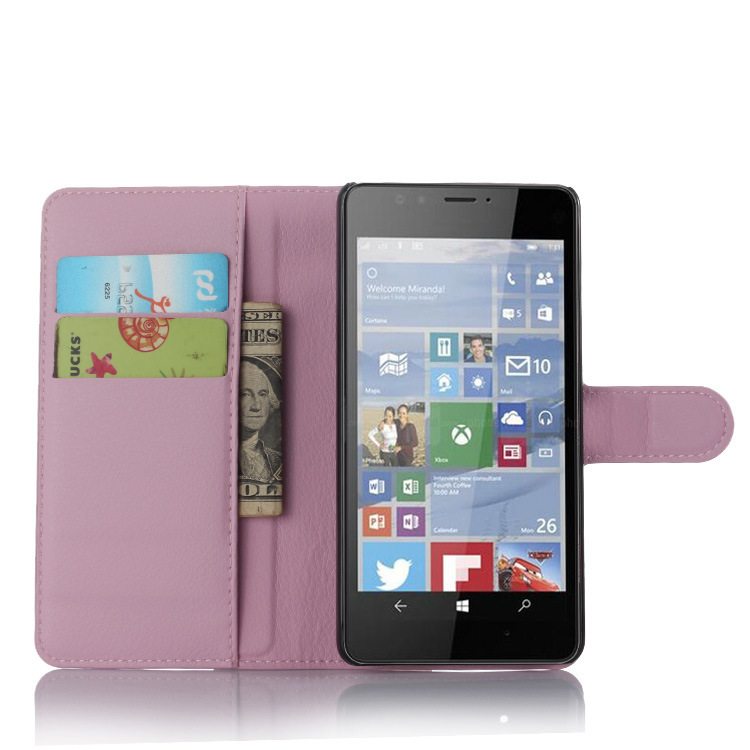 Lichee Pattern Wallet Flip Cover Stand with Card Holder Case Cover for Nokia Lumia 950 XL