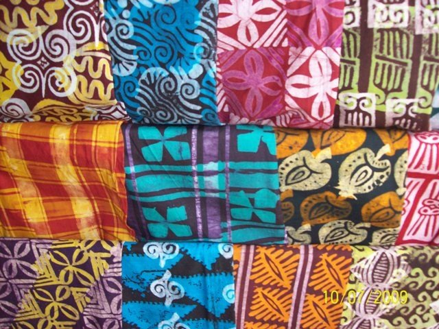 Ghanaian local fabrics. (Kente)