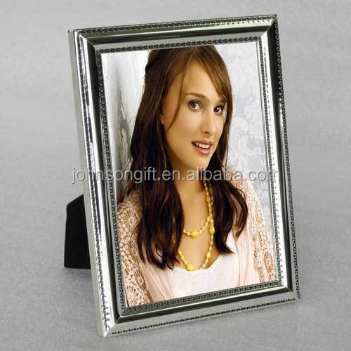 Wholesale Bulk Elegant Sliver Plated Hot Sexy Mirror Glitter Aluminium Photo Picture Frame 8x10''