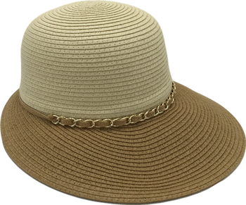T48-18Cloche Hat New Style Summer Paper Pleat Hat