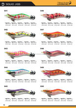 Japanese Squid Jigs Size 2.0/2.5/3.0/3.5/4.0 Naturel Colors Fishing lure