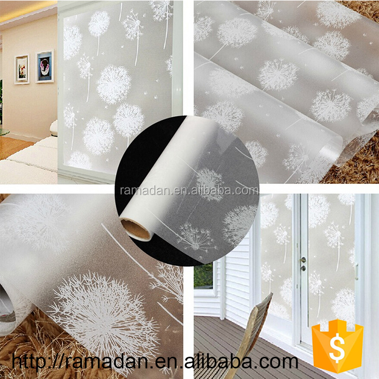 Easy Apply 3m stained security window film PVC anti-glare color changing bullet proof window film price, Accept OEM