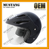 Customized Half Face Matt Black Carbon Fiber Motor Cycle Helmet
