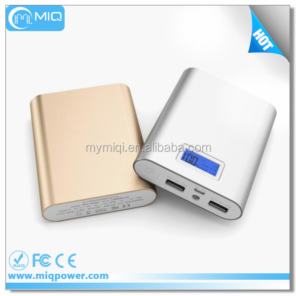 2016 Newest OEM 10400 mah Power Bank with LCD display