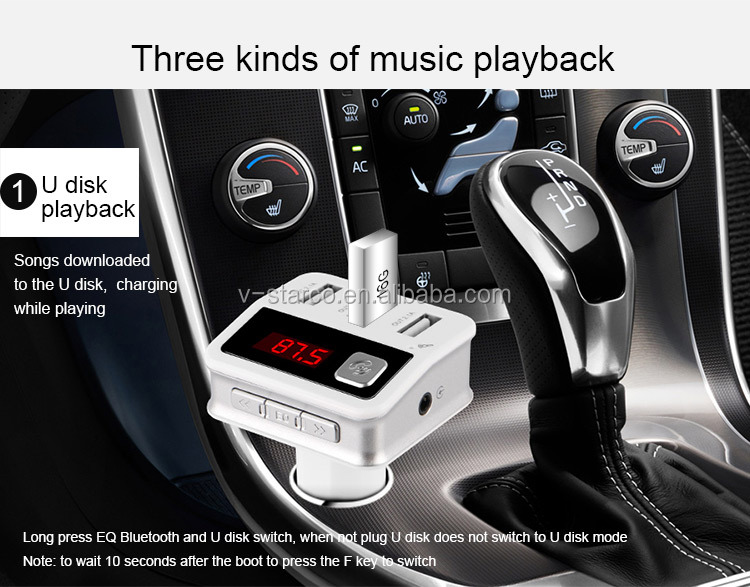 4-in-1 CAR G7 FM Transmitter Bluetooth , TF Music Player 3 USB Car charger Bluetooth FM Transmitter