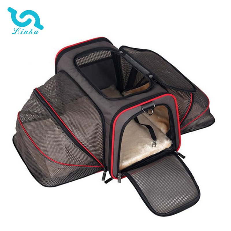 Hot Sale Charcoal Black Airline Approved Pet Carrier Bag