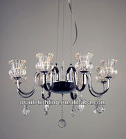 3W LED or E14 changeable deer antler chandelier for hotel