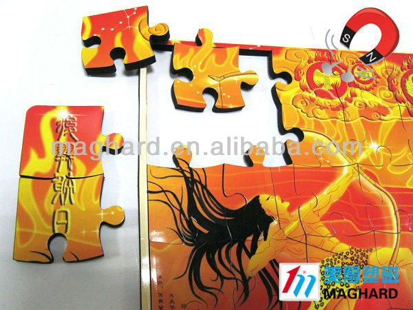 magnetic cartoon toy paper jigsaw puzzle