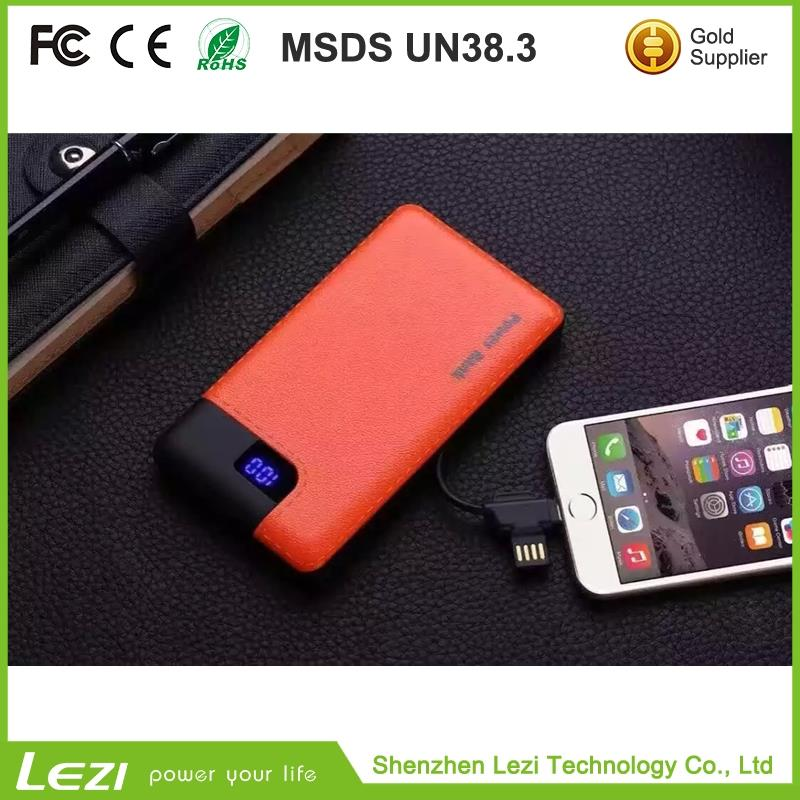 Hot selling super slim power bank battery power bank8000mah