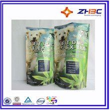zipper tea bag package with plastic material