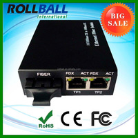 Dual Fiber 1310nm 20km one Fiber Ports+ two Copper Ports 1000base fx fiber switch