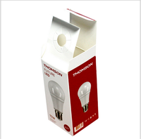 custom made auto-lock bottom paper packaging for light bulb LED packaging box