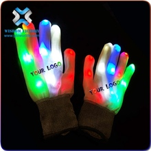 2016 New Rainbow Flashing Fingertip LED Gloves Unisex Light Up Glow gloves,gloves led