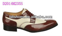 men brown oxford pointed toe leather Dress Shoes