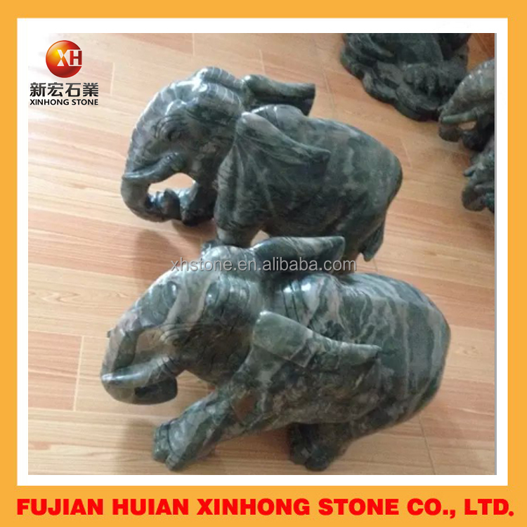 garden jade stone elephant sculpture for animal statue decoration