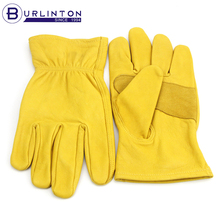 Genuine leather swede patch goat skin working gloves