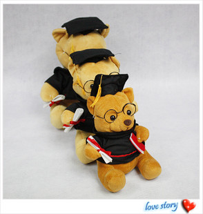 Lovely Plush Toy Teddy Bears and Little Dogs graduation gifts wholesale
