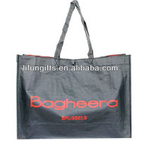 2016 promotional pp non woven foldable tote bag with snap closure