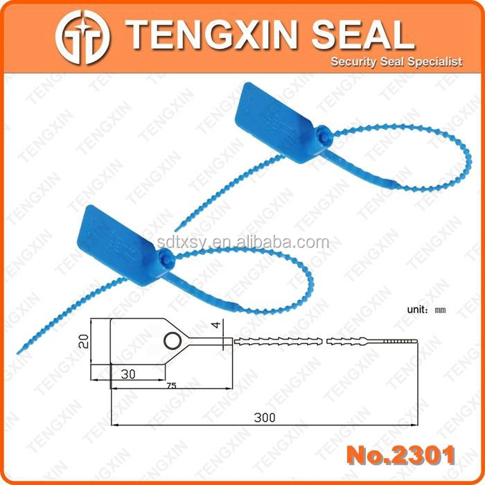 TX-PS301 New Product plastic pull tight seal Mechanical security sea