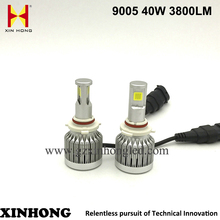 Automobiles spare parts motorcycles Import cob hb4 9006 9005 led headlight for t oyota prado