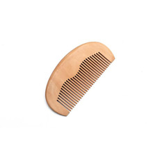 Hot selling hair brush EM logo cheap wooden hair beard comb