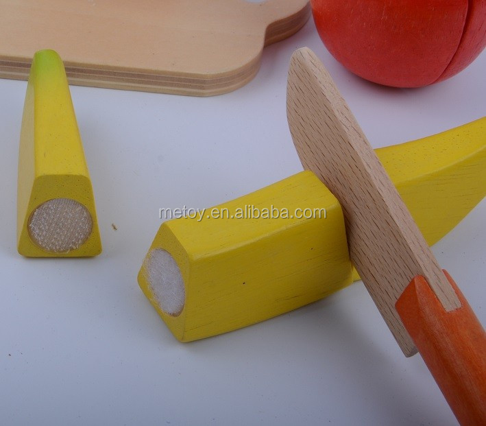 2017 New vegetables and fruits cutting wooden food toy