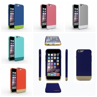 Pc Silicone 2 In 1 Hybrid Combo Case for iPhone 6 ,Slim Armor Super Thin Hard Cover Cases for Apple iPhone