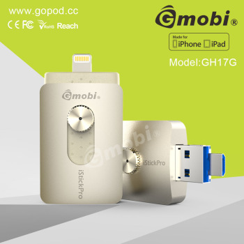 Splendid MFi Gmobi iStick Pro OTG USB Flash Drive Exclusive For iPhone/iPad/Computers