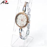 IP rose gold alloy bracelet wrist watch ladies beautiful watches