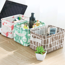 Fresh cotton and linen hand - hand desktop sundry basket collection box cabinet small clothing cloth art collecting basket
