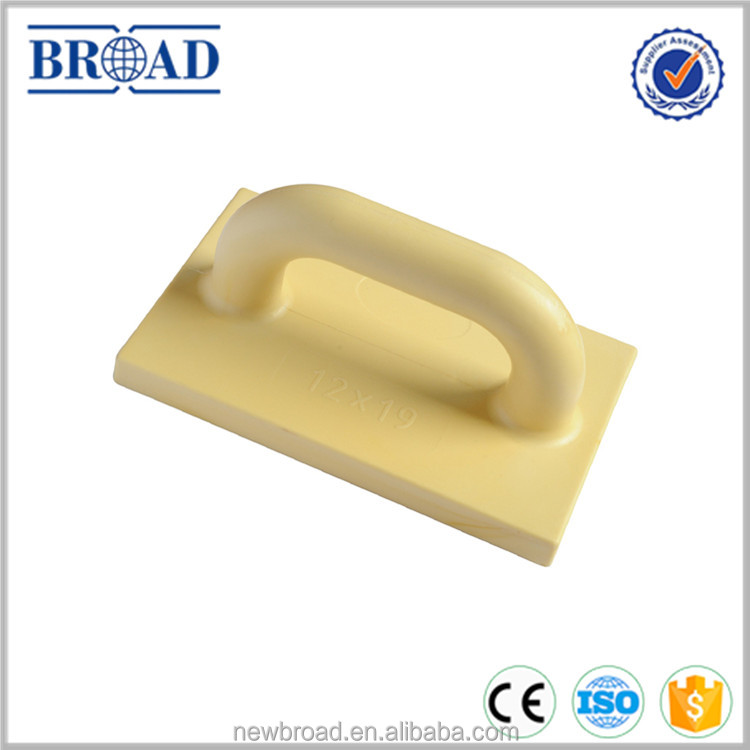 one-piece plastic float trowel superior to foam rubber float