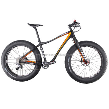 "26er Full Carbon Fat Bike ICAN Carbon Fatbike Sizes 17""/19"" 190mm 100mm BB Complete Carbon Bicycle"
