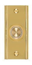 Polished Brass Wired Button Switches For Doorbell Parts