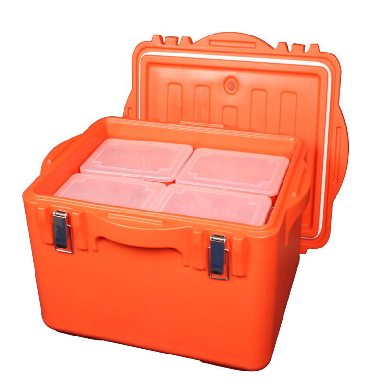 Food grade plastic heat preservation barrel with lid