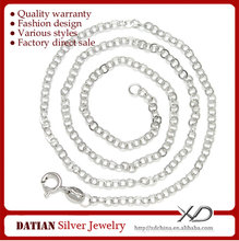 XD Y949 Wholesale 925 Sterling Silver Circle Cross Mens Platinum Chain