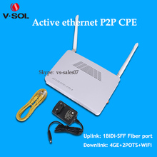 V-SOLUTION 4 LAN+2 POTS wifi P2p network FTTP device